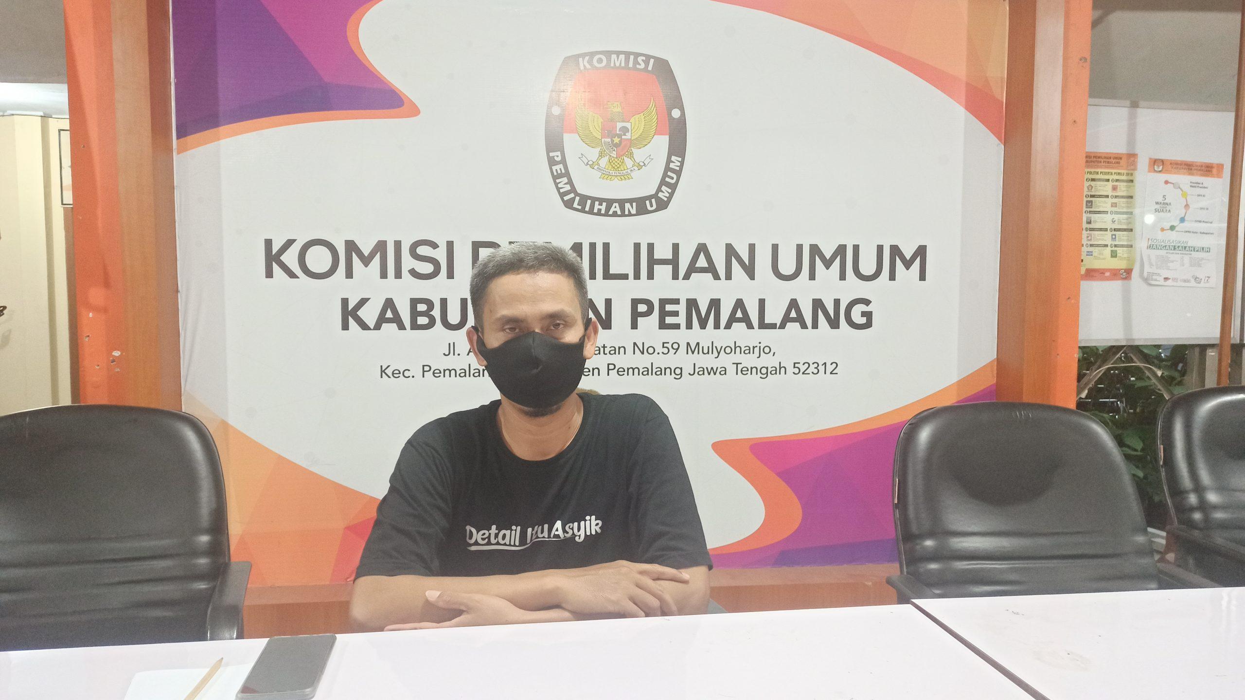 Komisioner KPU kabupaten Pemalang Divisi teknis dan penyelenggaraan Harun Gunawan