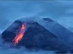 Tetap Siaga, Pagi ini Gunung Merapi 10 kali Meluncurkan Guguran Lava Pijar
