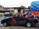 Jalan Banjir, Masan Siapkan Mobil Bak Terbuka untuk Angkut Motor