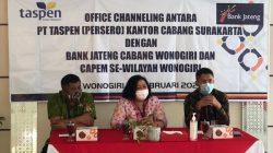 Kerjasama PT Taspen dengan Bank Jateng