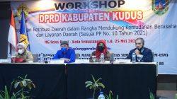 workshop yang digelar DPRD Kudus di MG Setos Hotel Kota Semarang