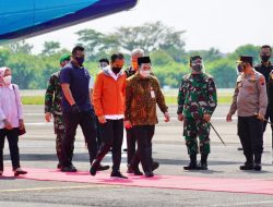 Kapolda Jateng Sambut Kedatangan Presiden Joko Widodo di Bandara Jenderal Besar Sudirman, Purbalingga