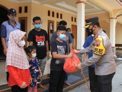 Kedua Orang Meninggal Akibat Terpapar Covid 19, Kapolres Sukoharjo Berikan Bantuan Kepada Tiga Anak Ini