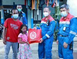 Serikat Pekerja Bagikan 300 Paket Sembako