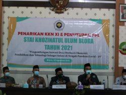 KKN XI STAI Khozinatul Ulum Blora 2021 Usai, Mahasiswa Dipamitkan